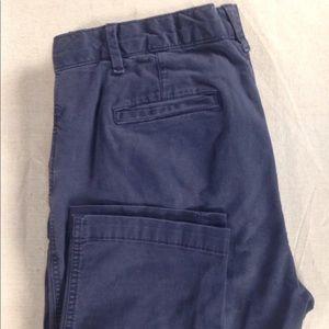 """Gap Straight Leg Chino, Mariner Blue 26"""" inseam, 8"""